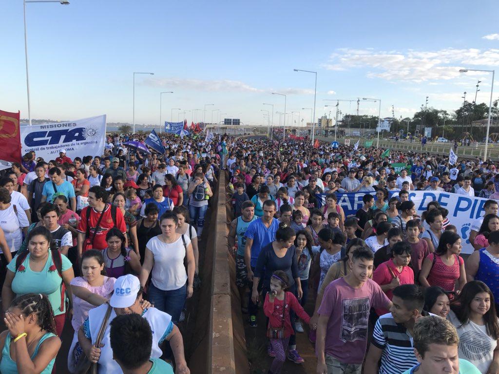 Comienza la «Marcha Federal» de los movimientos sociales