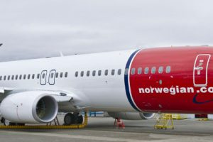 Norwegian 737-800 at Boeing Field K65538