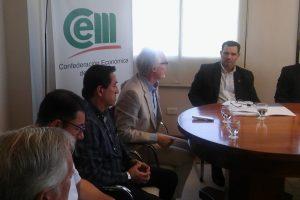 Riesgos de trabajo: Agulla y funcionarios de la SRT participaron de charla en la CEM