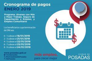 Este viernes comienza el pago de los programas sociales de la Oficina de Empleo de Posadas