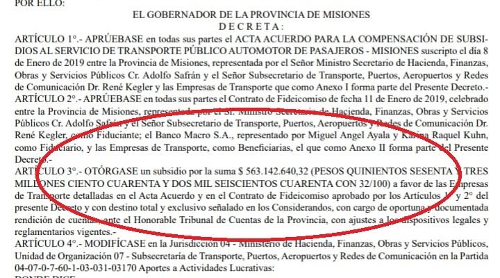 """Se publicó en el Boletín Oficial el aporte de la Provincia de $563 millones para subsidiar el boleto y cubrir el """"hueco"""" que dejó Nación para cumplir con el FMI"""