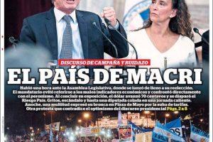 Las tapas del sábado 2: El país de Macri