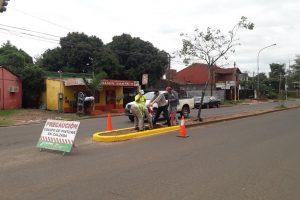 Para mejorar la seguridad, Vialidad avanza con la señalización vial en Posadas