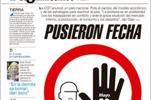 """Las tapas del miércoles 15: Argentina """"emergente"""", el paro de la CGT y Cristina peronista"""