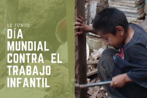 Realizarán jornada por el día mundial contra el trabajo infantil en Jardín América