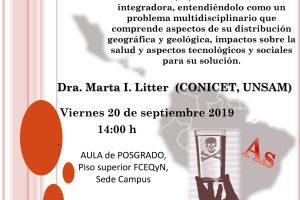 El problema del arsénico en América Latina