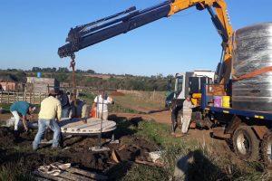 Losada supervisó las obras de extensión de redes de agua en el barrio El Porvenir II