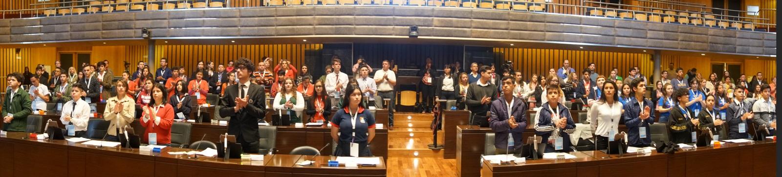 """""""Yo quiero ser Presidente"""", el deseo en primera persona expresado en el Parlamento Estudiantil"""