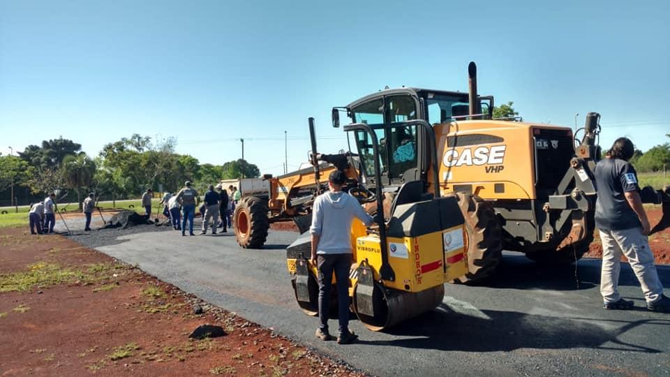 El municipio comenzó a construir la pista de la Escuela de Manejo