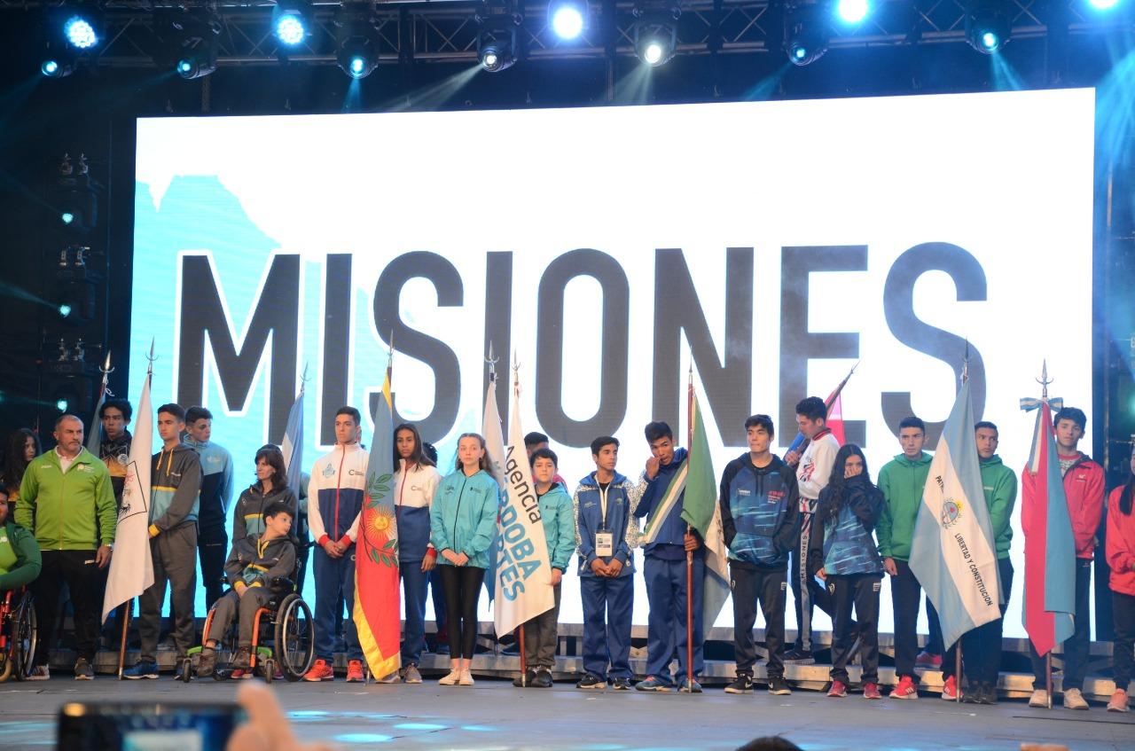 Misiones se destacó en la inauguración de los Juegos Nacionales Evita