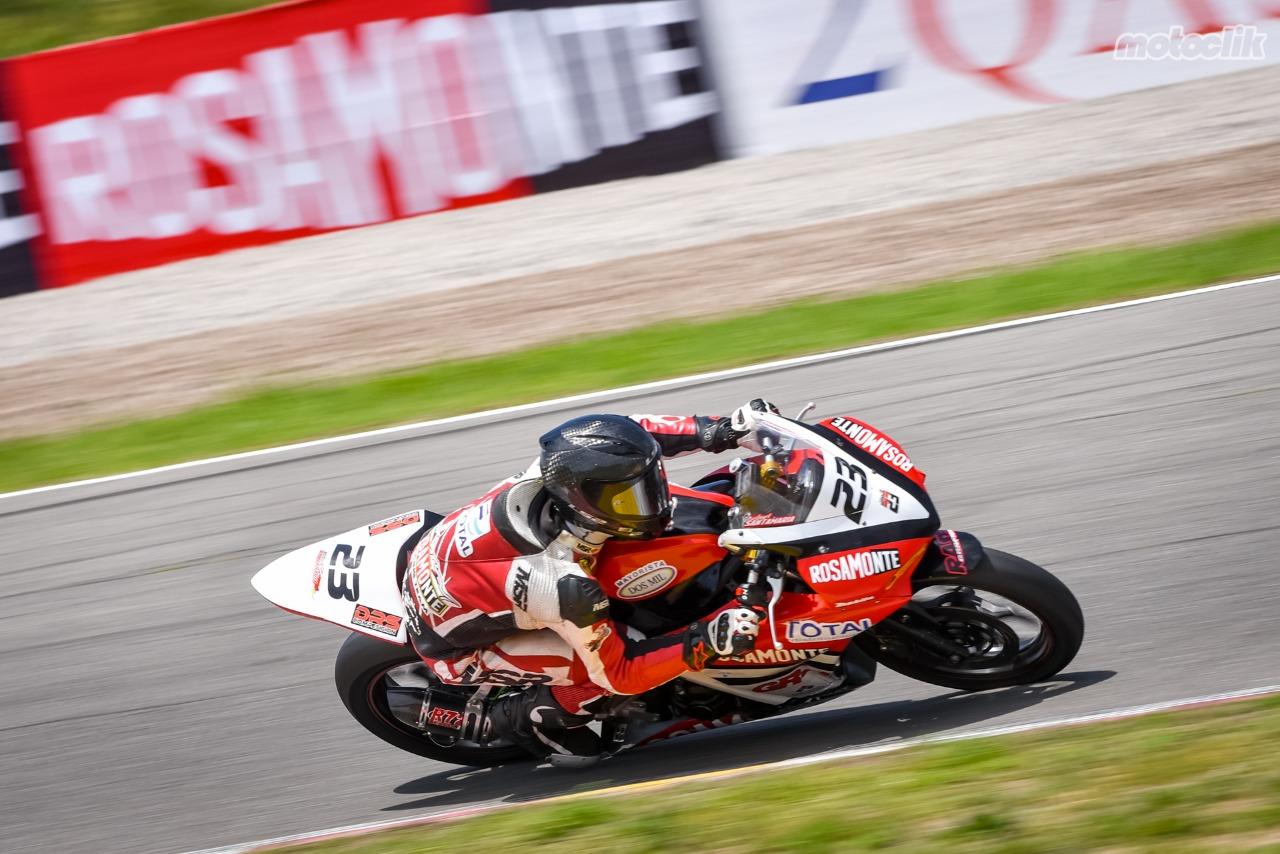 Nahuel Santamaría festejó con el Rosamonte Racing Team