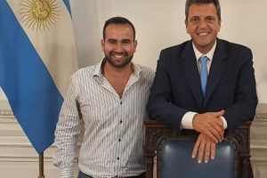 Dialogo: Sergio Massa recibió a Ale Velázquez en el Congreso Nacional