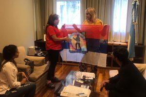 La ministra de Derechos Humanos mantuvo varias reuniones articulando acciones con Nación