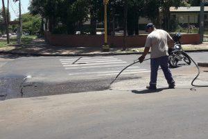 El municipio reparó las avenidas Las Heras y Urquiza