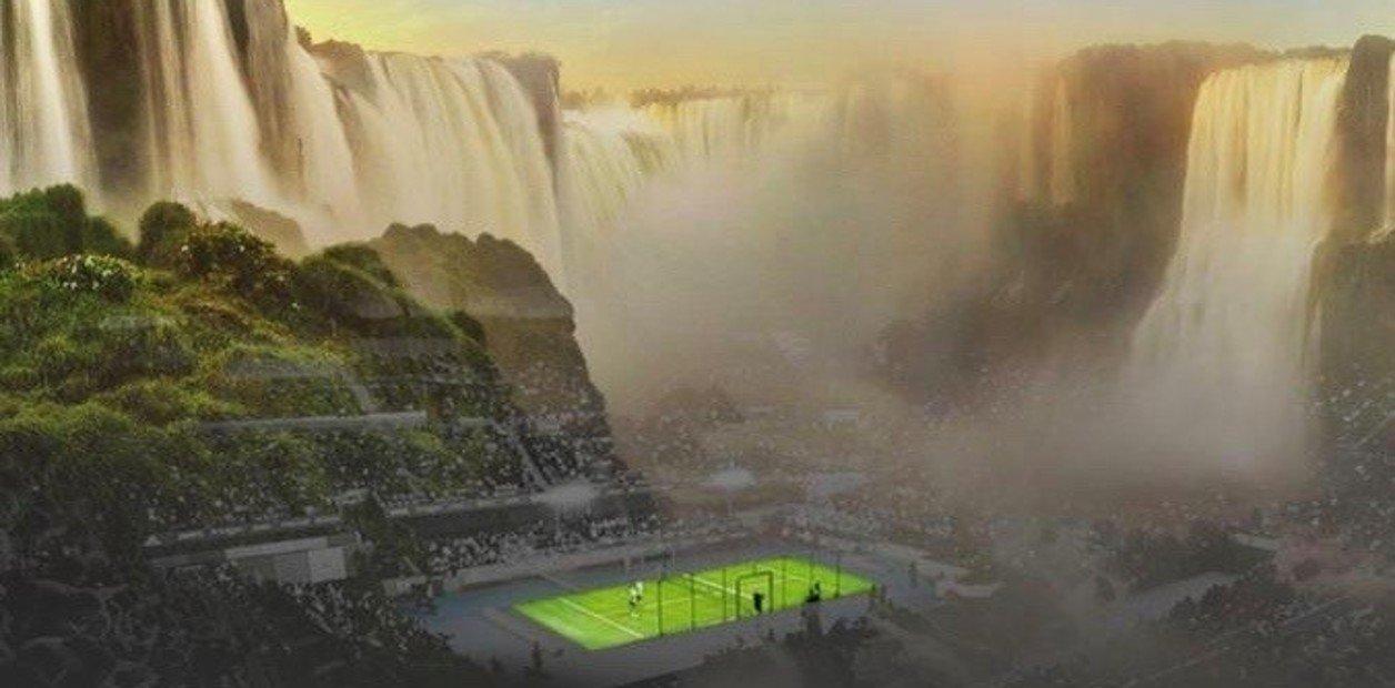 Montarán una cancha de pádel vidriada en pleno Parque Iguazú, con las Cataratas de fondo, para una exhibición