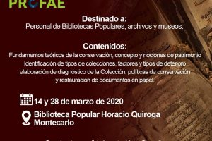 Capacitarán en conservación de patrimonio documental en Misiones