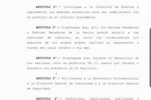 El Senado suspendió eventos y acota la circulación de asesores