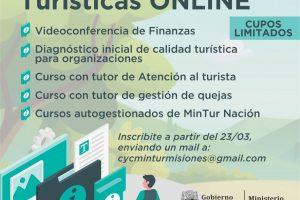 Ofrecen capacitaciones turísticas online
