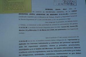 Advierten que habrá descuentos a docentes que realicen un paro ilegal