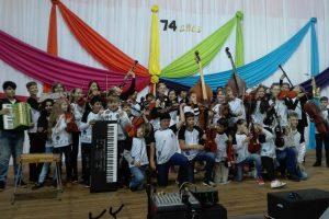 Estudiantes rindieron homenaje a Malvinas con un ensamble orquestal desde sus casas