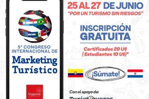 Por un turismo sin riesgos organizan el  Congreso Internacional de Marketing Turístico online
