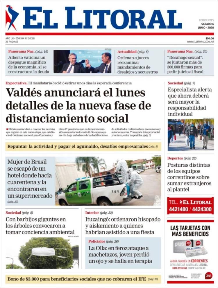 Las tapas del domingo 7: El Covid 19 ya no es tema principal en Buenos Aires y grandes ciudades, pero sí en el interior