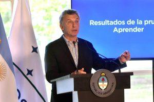 """Macri presentó los resultados de la evaluación Aprender y dijo que son """"dolorosos"""""""