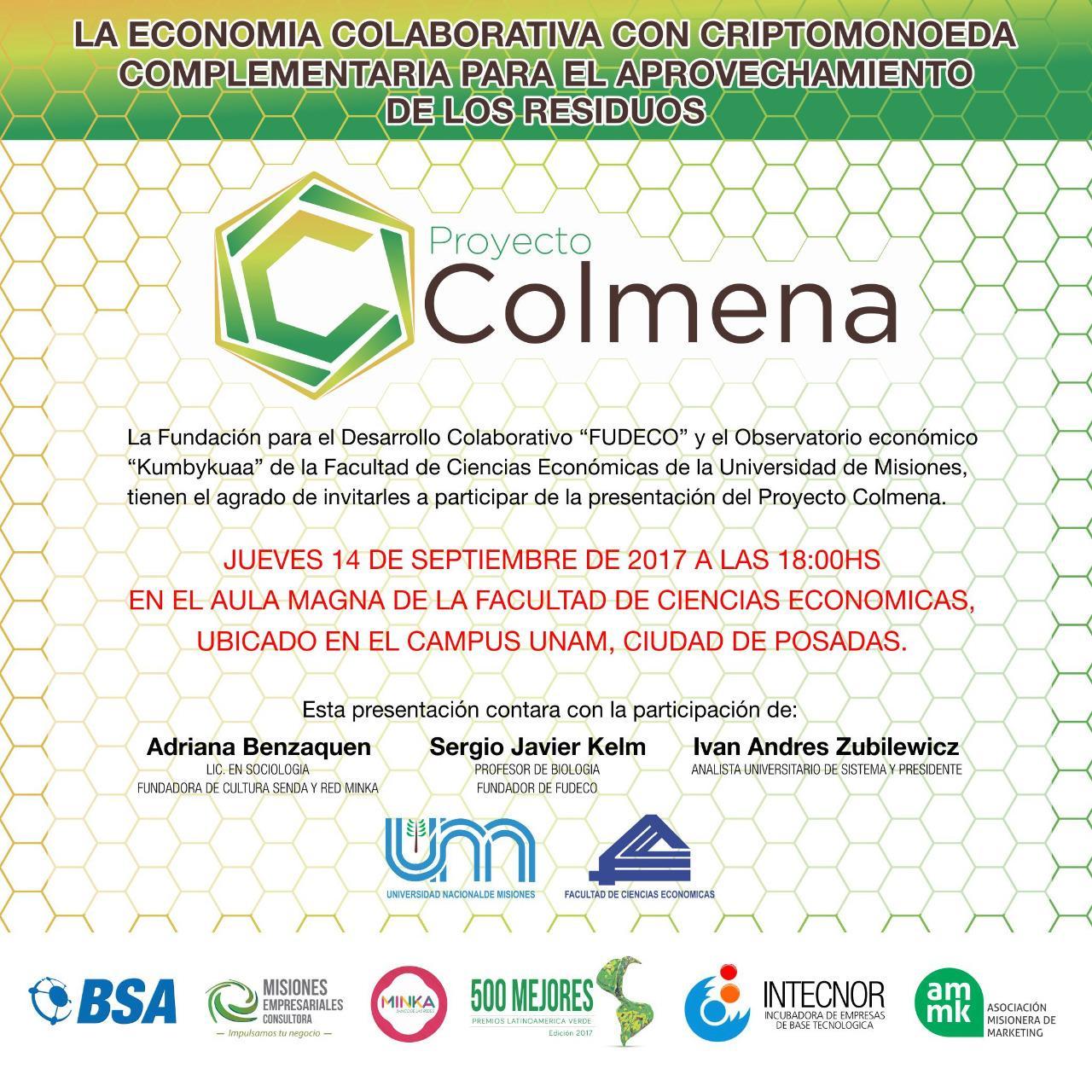 """Se presentará el """"Proyecto Colmena"""", un sistema de economía colaborativa para el aprovechamiento de los residuos"""