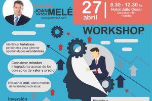 Joan Melé hablará sobre el valor del trabajo en Posadas