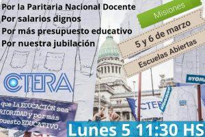 La UDPMrealizará Jornada de protesta enla Escuelas