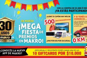 El Mayorista Makro festeja 30 años con una Mega Fiesta de Premios