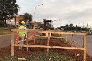Se iniciaron las obras de la pasarela peatonal frente al Campus