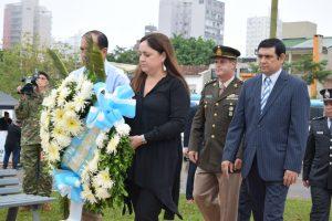 Losada encabezó el homenaje a los ex combatientes en Posadas