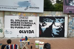 Mural en homenaje a los héroes de Malvinas