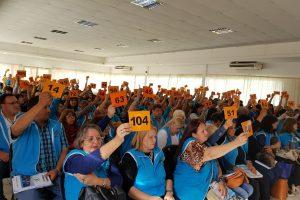 Congresales de la UDPM aprobaron en forma unánime la memoria y balance de 2017 del sindicato