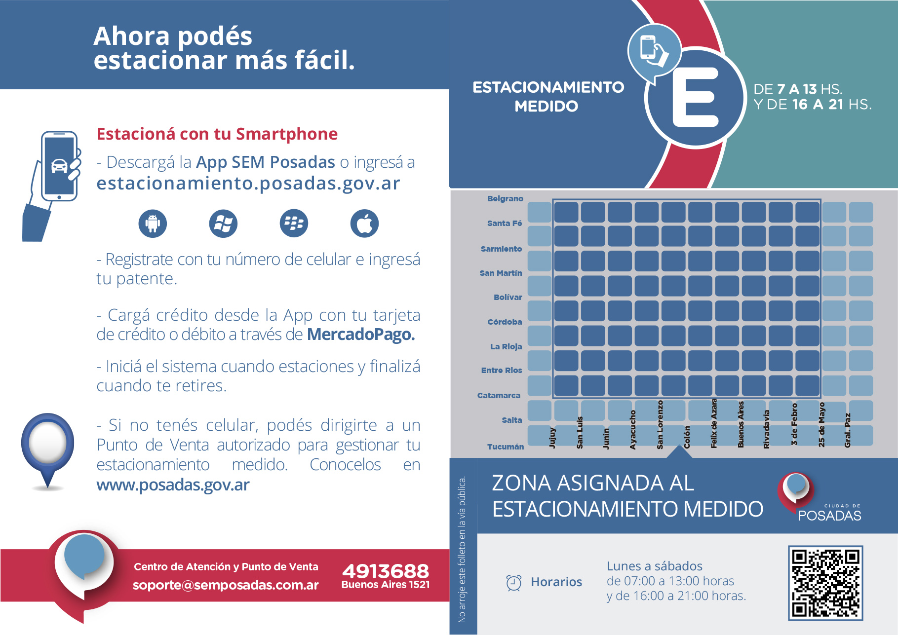 Posadas: el municipio dispuso la modalidad del pago voluntario del Sistema de Estacionamiento