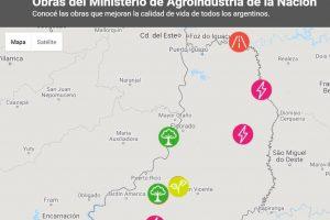 Agroindustria implementó un mapeo digital de obras para el campo