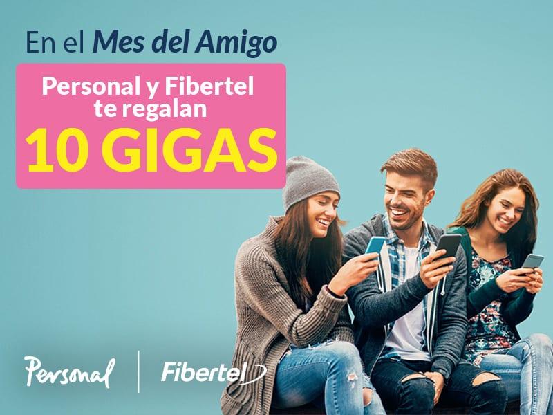 En el mes del amigo los clientes de Fibertel y Personal acceden a un beneficio con gigas adicionales