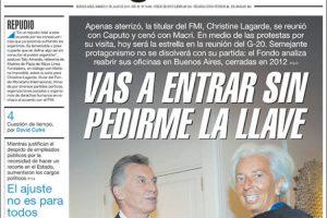 Las tapas del sábado 21/7: La visita de Lagarde y la pelea del gobierno con Camioneros