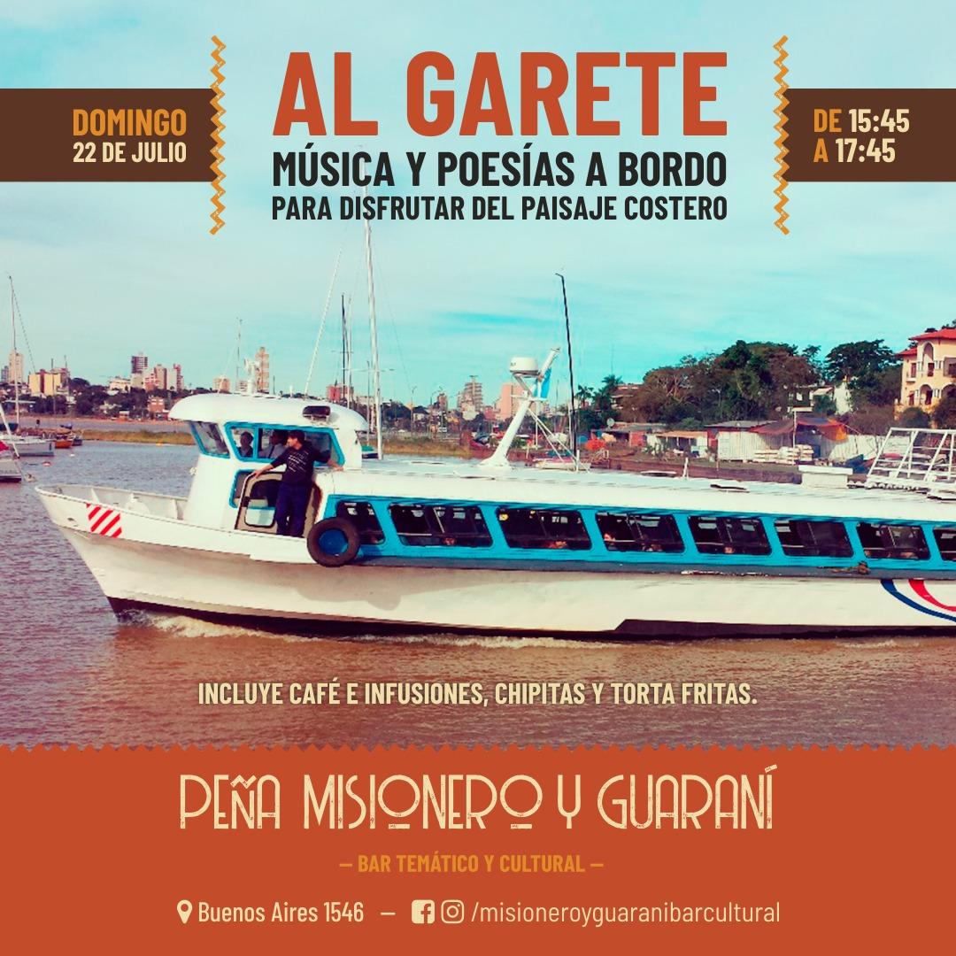 Al Garete: un domingo de poesía y música en el Río Paraná