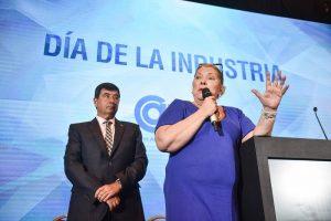 La diputada Elisa Carrió y el presidente de CAME, Gerardo Díaz Beltrán