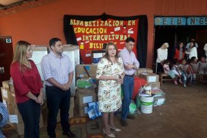 Jardines de Cainguás y Ruiz de Montoya recibieron equipamiento