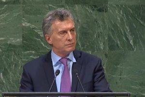 """Macri en la ONU: """"Nuestro país está transitando un período de cambios profundos"""""""
