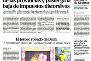 """Las tapas del martes 11/9: El """"día D"""" de Macri para aprobar el Presupuesto y avanzar con el FMI"""