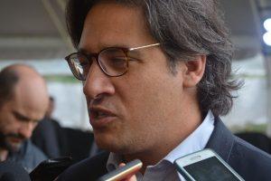 Garavano ayer en Villa Bonita. Tuvo un día agitado tras las acusaciones de Lilita Carrió.