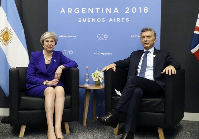 Macri y Theresa May, segundo encuentro bilateral a 36 años de la guerra de Malvinas