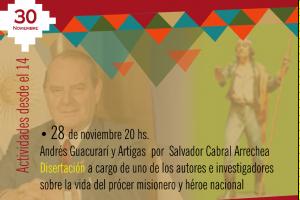 Salvador Cabral Arrechea disertará sobre Andresito