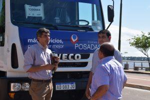 La municipalidad de Posadas incorporó 2 camiones y 6 bateas para mejorar el servicio de limpieza