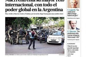 Las tapas del jueves 29: El G20 como vidriera mundial de Cambiemos