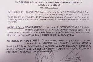 Dos empresas fueron excluídas del Ahora Misiones por recargos de intereses indebidos